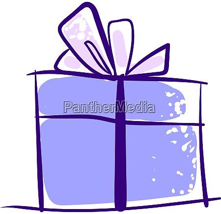 purple gift drawing illustration vector on