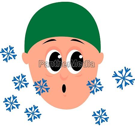 fallender schnee illustration vektor auf weissem