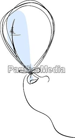 balloon drawing illustration vector on white