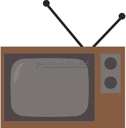 old tv illustration vector on white