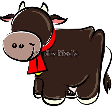 glueckliche kuh illustration vektor auf weissem