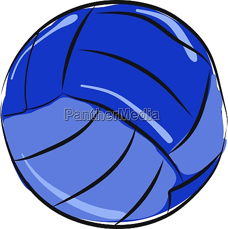 blue volleyball illustration vector on white