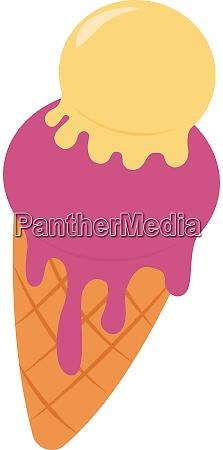 ice cream in cone illustration vector