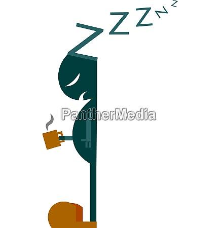 drawing of a sleeping stick man