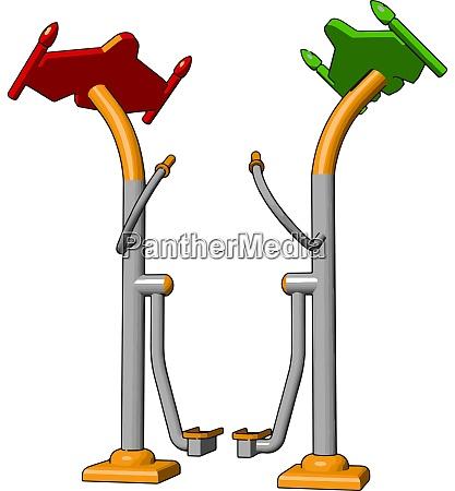 gym, trainingsgerät, illustration, vektor, auf, weißem, hintergrund., illustration, vektor, auf - 27519984