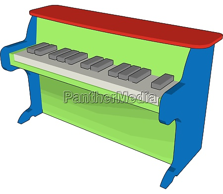 green piano toy illustration vector on