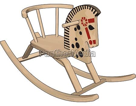 horse toy for kids illustration vector