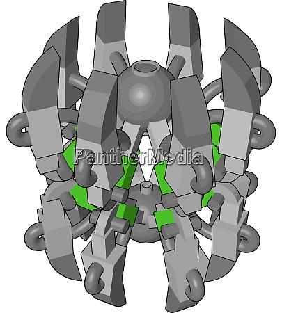 gruene roboter spinne illustration vektor auf