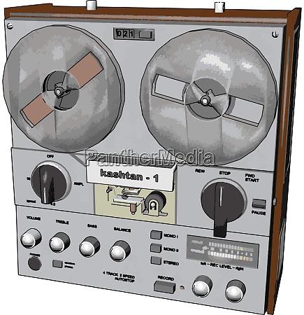 old radio recorder illustration vector on