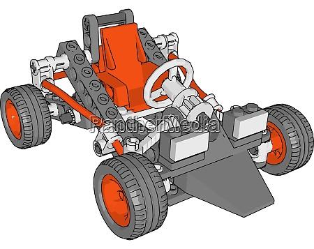 rotes auto illustration vektor auf weissem