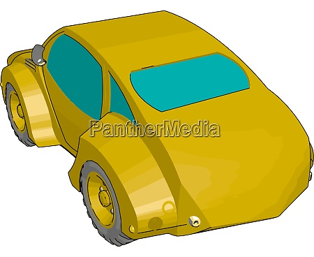 coole gelbe auto illustration vektor auf