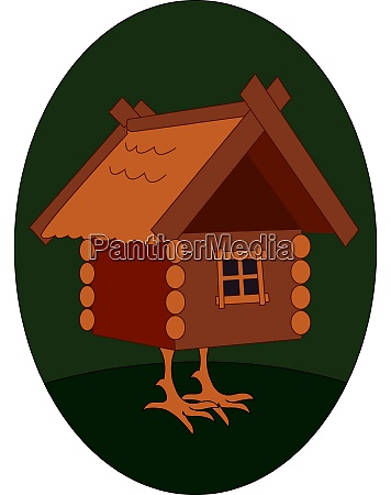 house with legs illustration vector on
