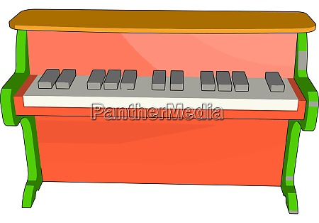 red, piano, toy, , illustration, , vector, on - 27520124