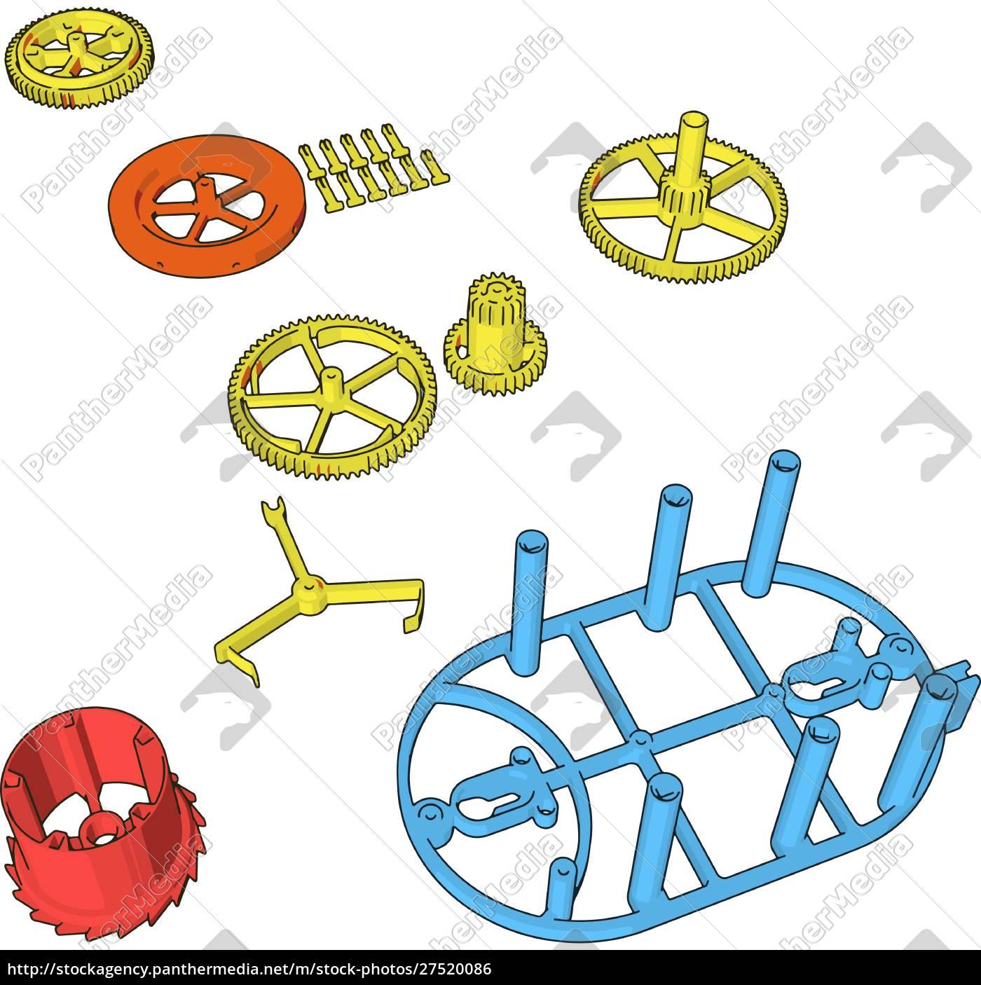 zerlegte, stücke, illustration, vektor, auf, weißem, hintergrund., illustration, vektor, auf - 27520086