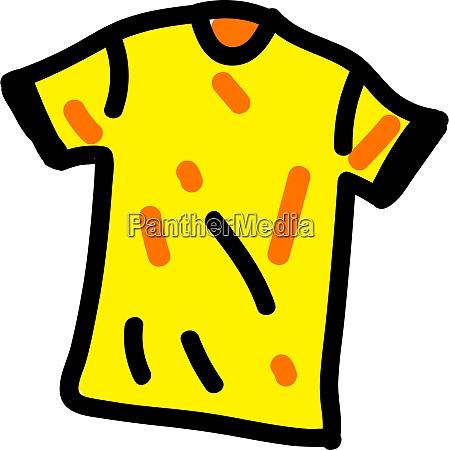 apparel yellow illustration vector on white