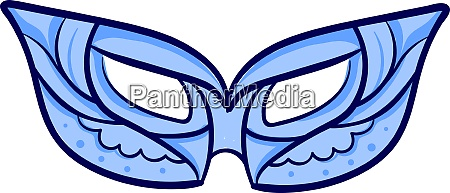 blue mask illustration vector on white