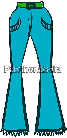 woman blue pants illustration vector on