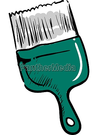 green paint brush illustration vector on