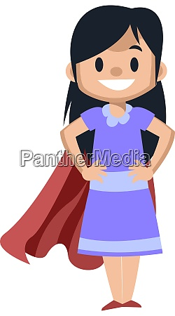 girl with red cape illustration vector