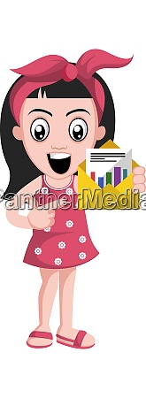 gilr with envelope illustration vector on