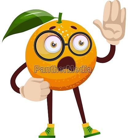 smart orange illustration vector on white