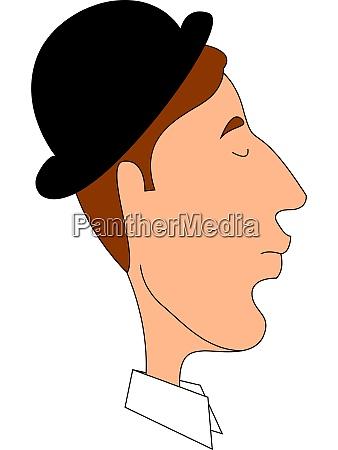 man with black hat illustration vector