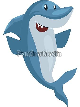 shark is happy illustration vector on