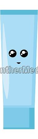 blue tube illustration vector on white