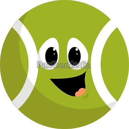 happy tennis ball illustration vector on