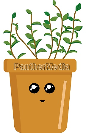 pflanze im topf illustration vektor auf