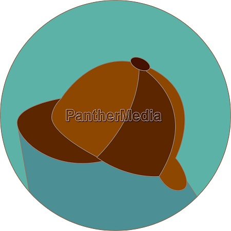 english brown hat illustration vector on