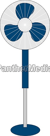 blue fan illustration vector on white