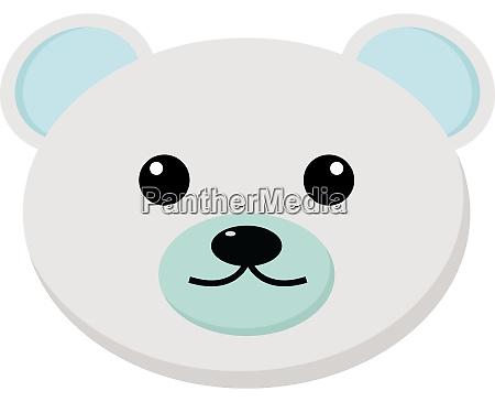 white bear illustration vector on white