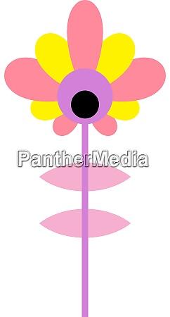 pink flower illustration vector on white