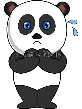 erschrockener panda illustration vektor auf weissem