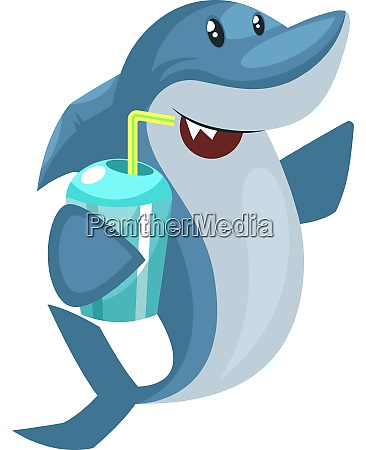 shark with water illustration vector on