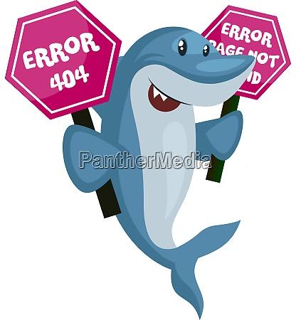 hai mit 404 fehlerzeichen illustration vektor