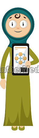 woman with job card illustration vector
