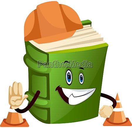 cartoon book character with traffic control