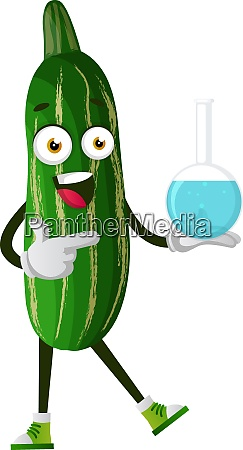 cucmber with tubes illustration vector on