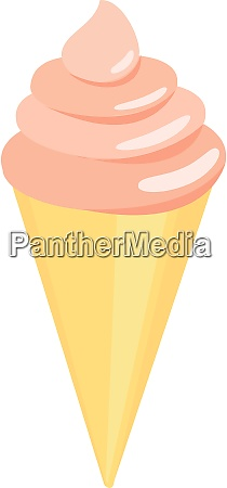 orange ice cream illustration vector on