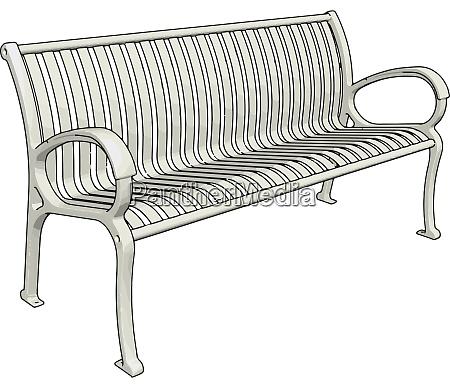 white bench illustration vector on white