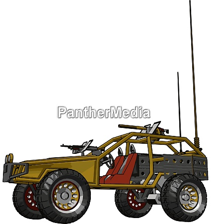 gelbe fernbedienung auto illustration vektor auf