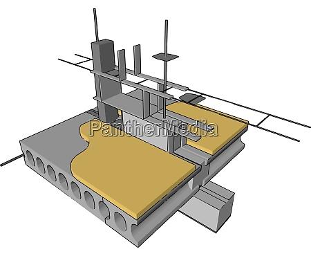 dock yellow building illustration vector on