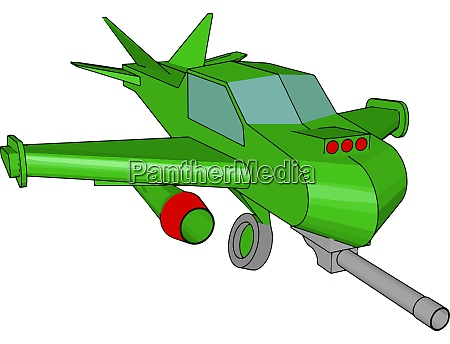 green aircraft toy illustration vector on
