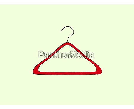 red hanger illustration vector on white