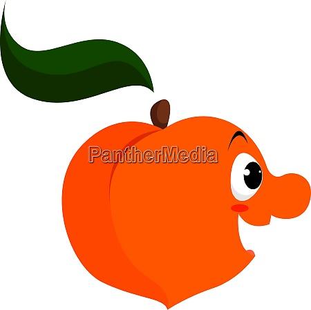 happy peach illustration vector on white