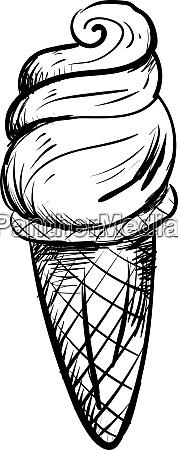 ice cream sketch illustration vector on