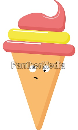 crazy ice cream illustration vector on