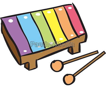 musical toy illustration vector on white